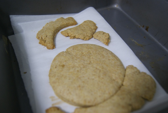 These are what my rando-shaped graham crackers look like. They look so weird, I know. The taste, however, will make you want to slap the makers of Honey Maid in the face for ever deceiving you.