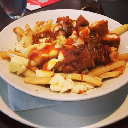 This is poutine. You're going to hear the word poutine a lot in this post, so I might as well show you what it is in all its glory.